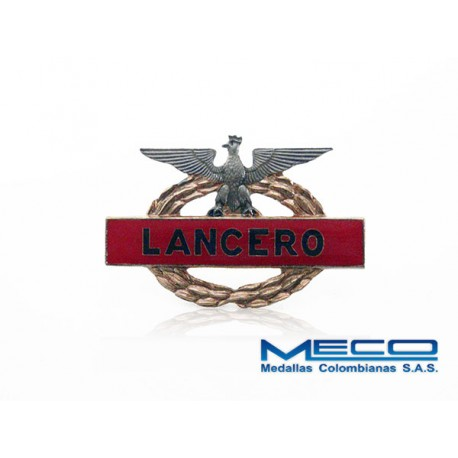 Distintivo Lancero Instructor Ejercito Nacional