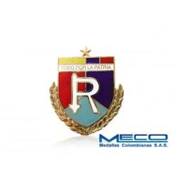Distintivo Reserva Oficial 1 Estrella Ejercito Nacional