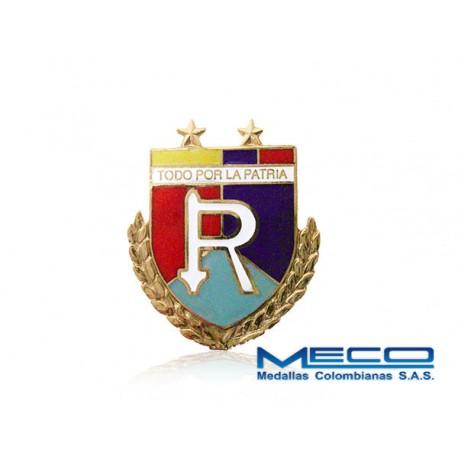 Distintivo Reserva Oficial 2 Estrellas Ejercito Nacional