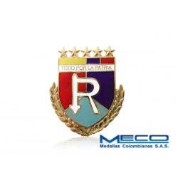 Distintivo Reserva Oficial 5 Estrellas Ejercito Nacional