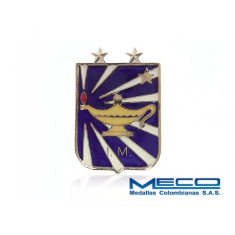 Distintivo IM Inteligencia Militar 2 Estrella Ejercito Nacional