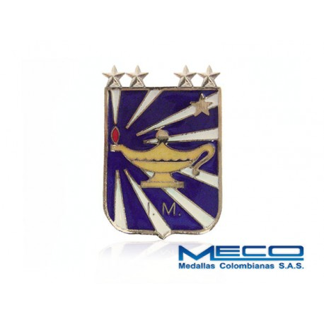 Distintivo IM Inteligencia Militar 4 Estrella Ejercito Nacional