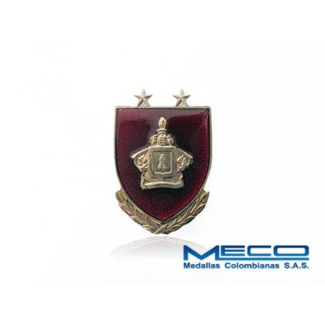 Distintivo Ingeniero Oficial 2 Estrellas Ejercito Nacional