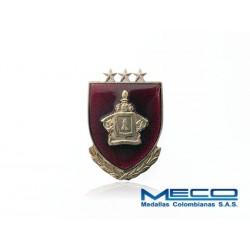 Distintivo Ingeniero Oficial 3 Estrellas Ejercito Nacional