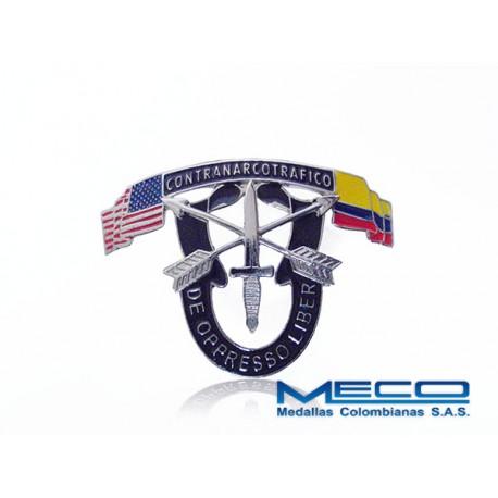 Distintivo Oppresso Liber Contranarcotrafico Ejercito Nacional