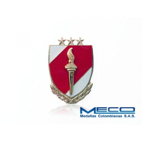 Distintivo EAS Oficial con Laurel 3 Estrellas Ejercito Nacional