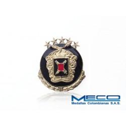 Distintivo Artilleria Suboficial 5 Estrellas con Laurel Ejercito Nacional