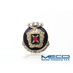 Distintivo Artilleria Suboficial 4 Estrellas con Laurel Ejercito Nacional