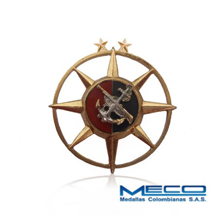 Distintivo Comando Infanteria de Marina 2 Estrellas