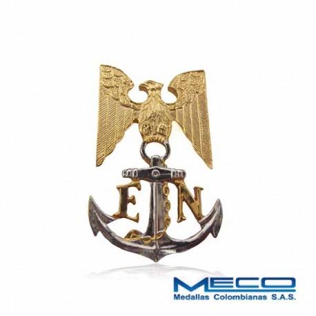 Distintivo Escudo Boina Escuela Naval Armada Nacional
