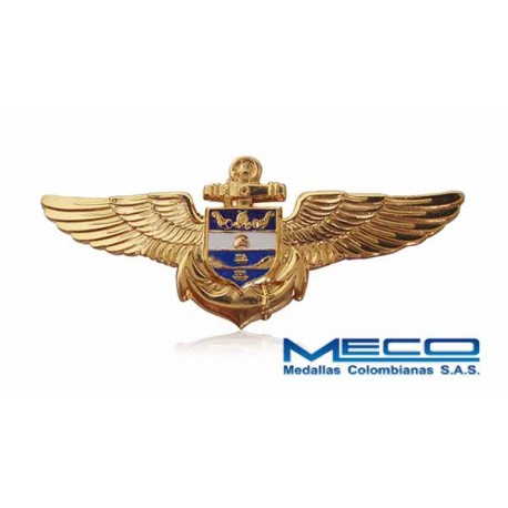 Distintivo Ala Aviacion Naval Armada Nacional