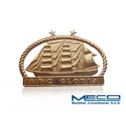 Distintivo Buque Gloria 2 Estrellas Armada Nacional