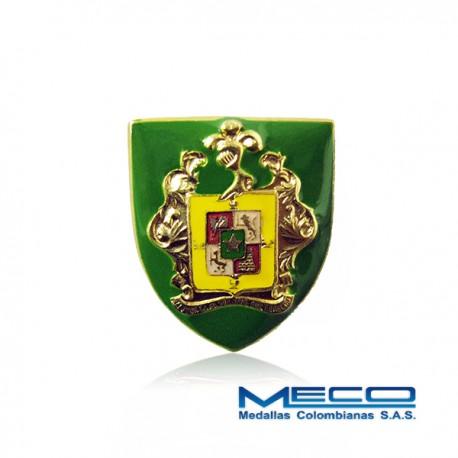 Distintivo Escuela de Cadetes de Policía General Francisco de Paula Santander Policia Nacional