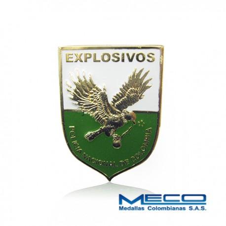 Distintivo Tecnico Profesional en Explosivos Policia Nacional