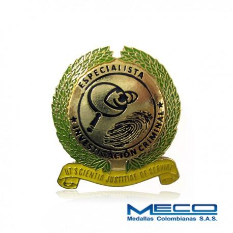 Distintivo Especializacion en Investigacion Criminal Policia Nacional