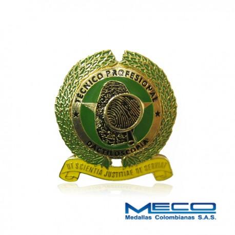 Distintivo Tecnico Profesional en Dactiloscopia Policia Nacional