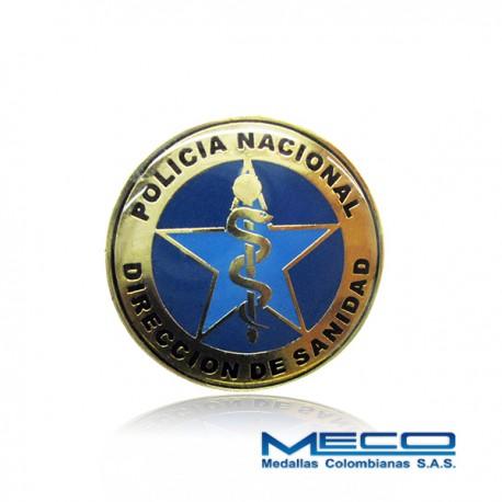 Distintivo Direccion de Sanidad Policia Nacional