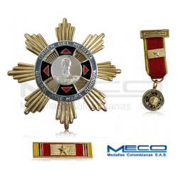 Medalla Orden Jose Maria Cordova Gran Oficial