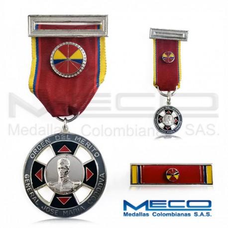 Medalla Orden Jose Maria Cordova Oficial