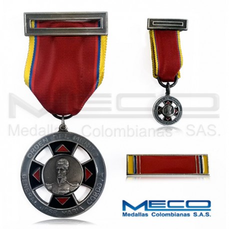 Medalla Orden Jose Maria Cordova Caballero