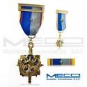 Medalla Militar Servicios Meritorios Inteligencia Militar Guardian de la Patria 2 Vez